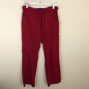 Koi Sapphire Red Alicia Scrub Pants Size Small